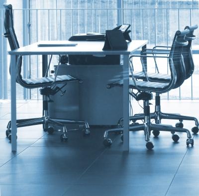 Innenausstattung in stilvollen Büros